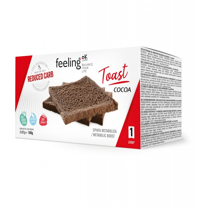 TOAST CACAO START 2X80G