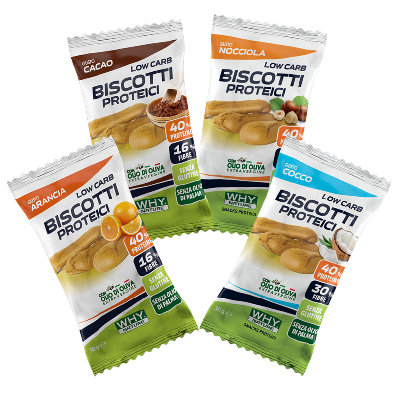 LOW CARB BISCOTTI PROTEICI 30G 4 GUSTI