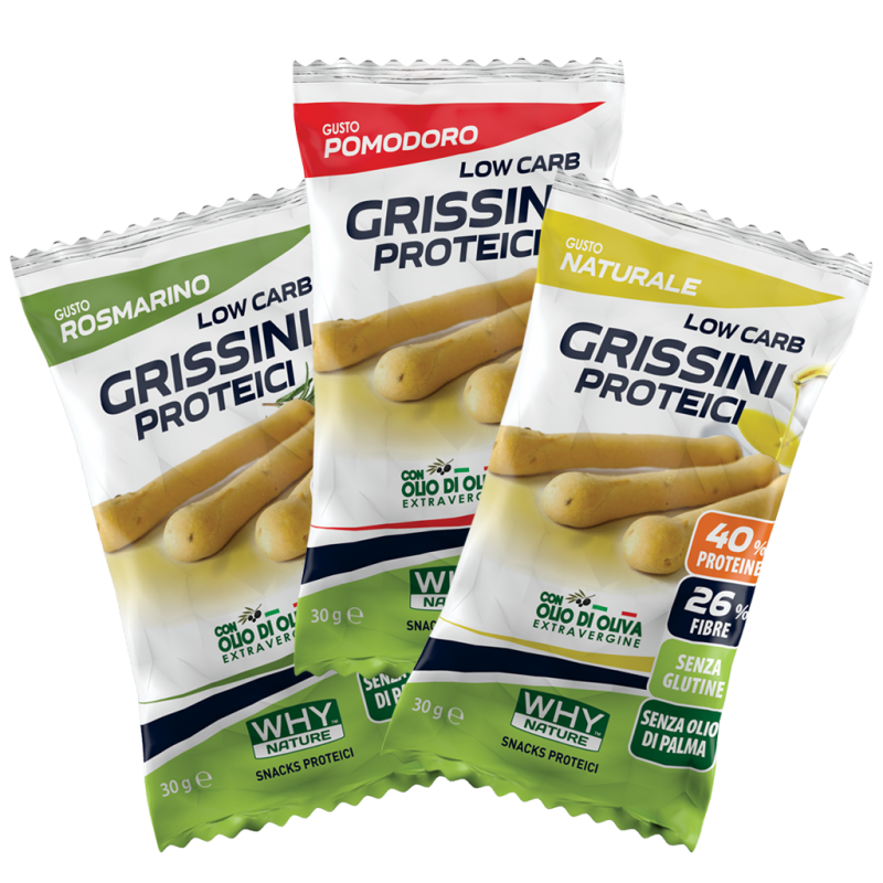 LOW CARB GRISSINI PROTEICI 30g 3 GUSTI