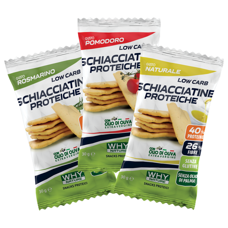 LOW CARB SCHIACCIATINE PROTEICHE 30G...