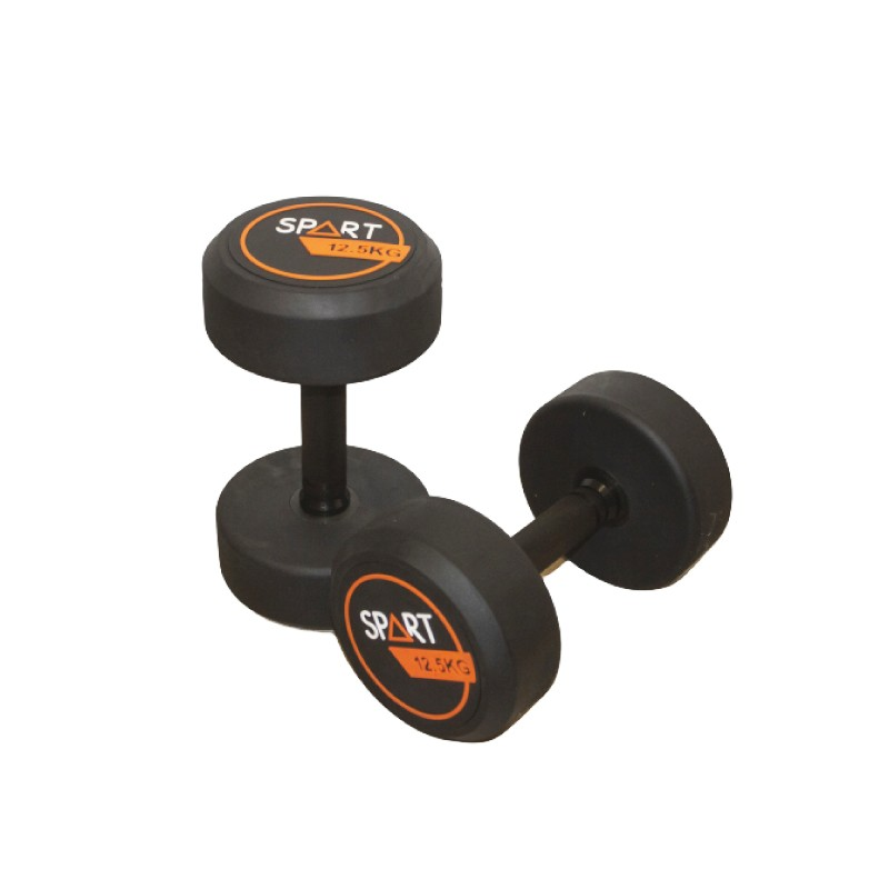 ROUND HEAD RUBBER DUMBBELL