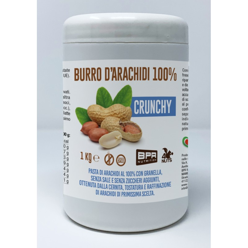 BURRO D'ARACHIDI 100% CRUNCHY 1kg